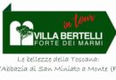 """Villa Bertelli """"in tour"""": Solidarietà alla Cultura ed allo Spettacolo..di Francesco Fiorini"""